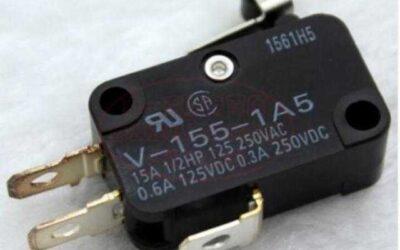 Interruttore di base/a scatto rapido Omron V-155-1A5