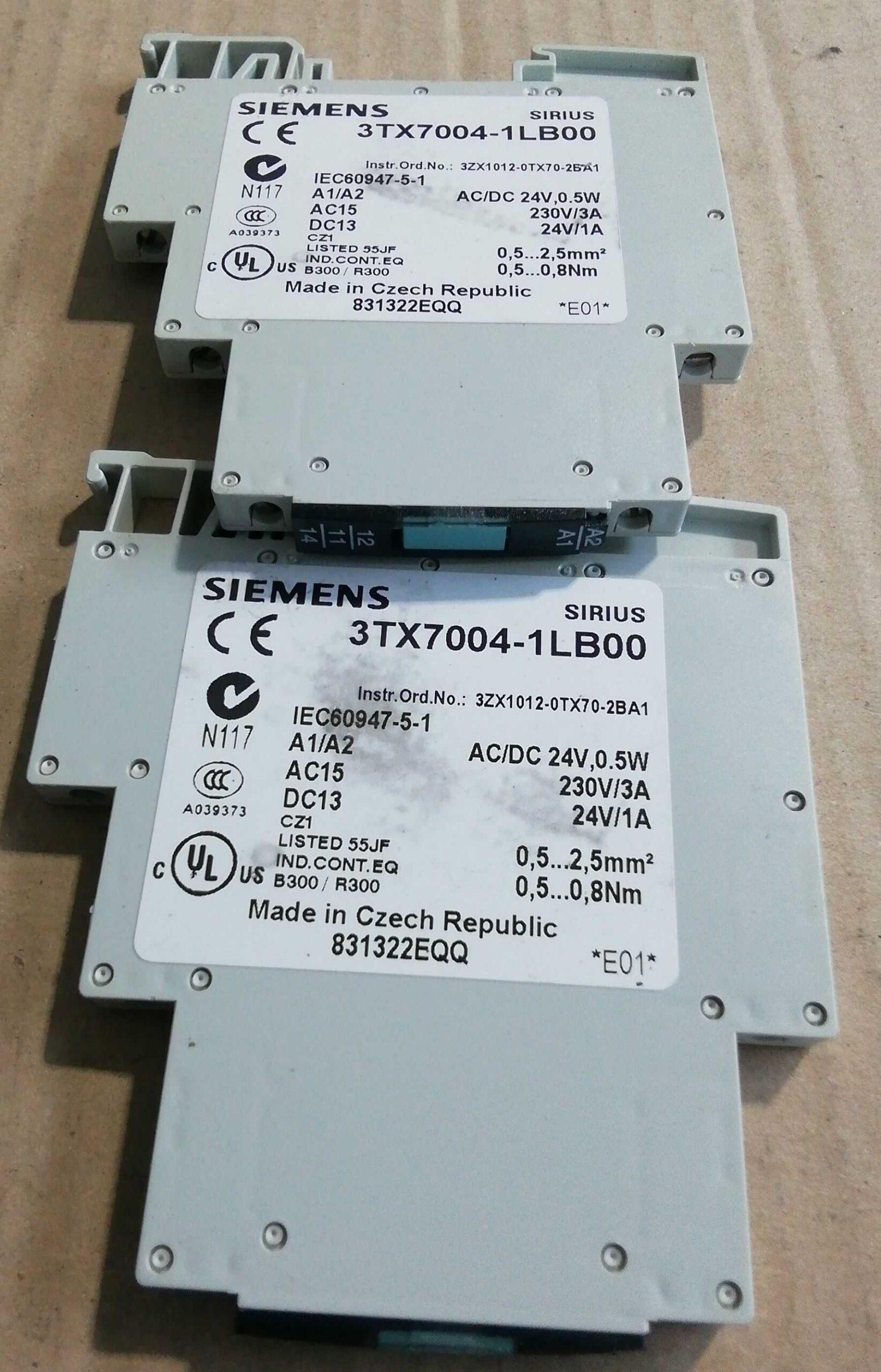 Relè Siemens 3TX70041LB00 Interfaccia di Uscita 230AC/DC