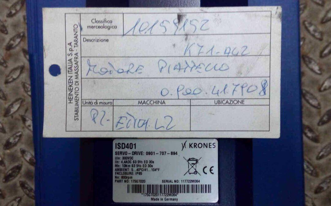 Servomotore Krones ISD 401 175G7020 marca Danfoss