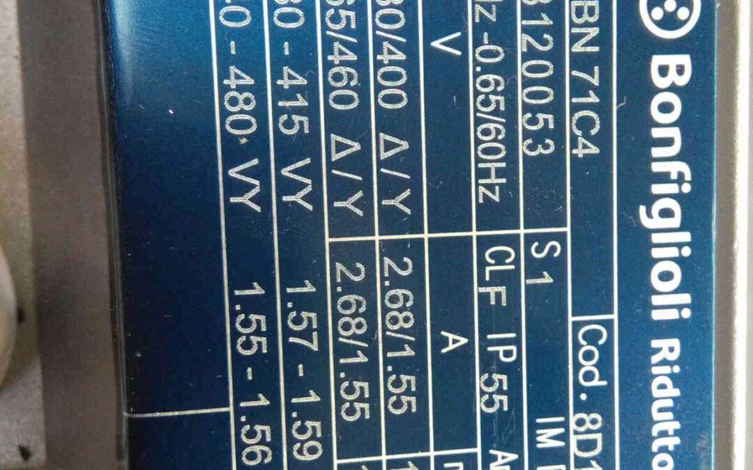 Motore Elettrico Asincrono Trifase Bonfiglioli 8D17020001