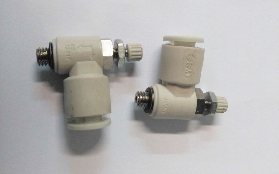 Regolatore di flusso a gomito M5 tubo 6 SMC AS1201F-M5-06A