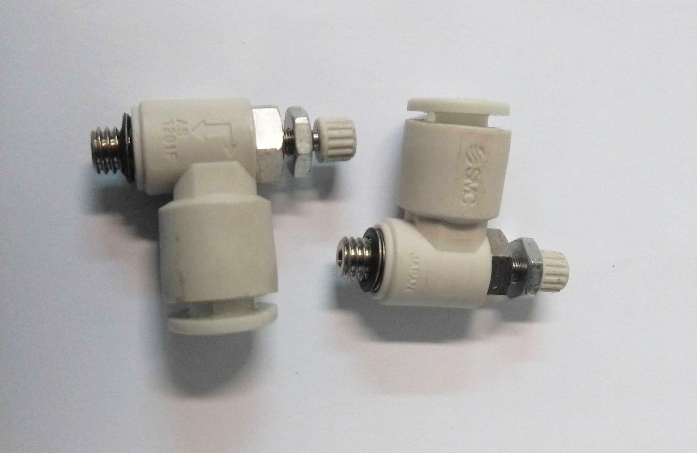 Regolatore di flusso a gomito M5 tubo 6 SMC codice AS1201F-M5-06A